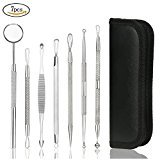 Kitdine Blackhead Remover and comedone extractor Pimple Acne Extractor Tool Best Comedone Removal Kit with mirror