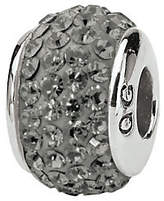 Swarovski Prerogatives Sterling Full Silver/Gray Crystal Bead