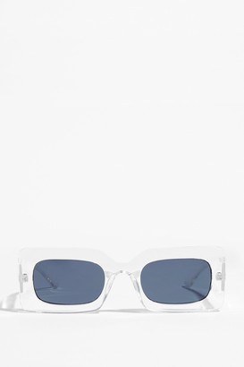 Nasty Gal Womens CLEAR FRAME SUNGLASSES