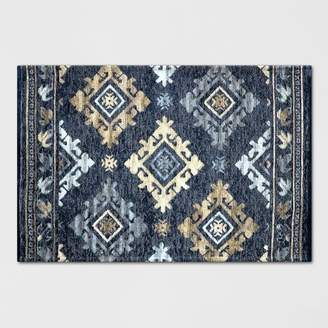 Threshold Indigo Tapestry Woven Rug