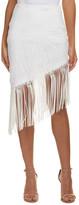 Nicole Miller Artelier Silk-Trim Pencil Skirt