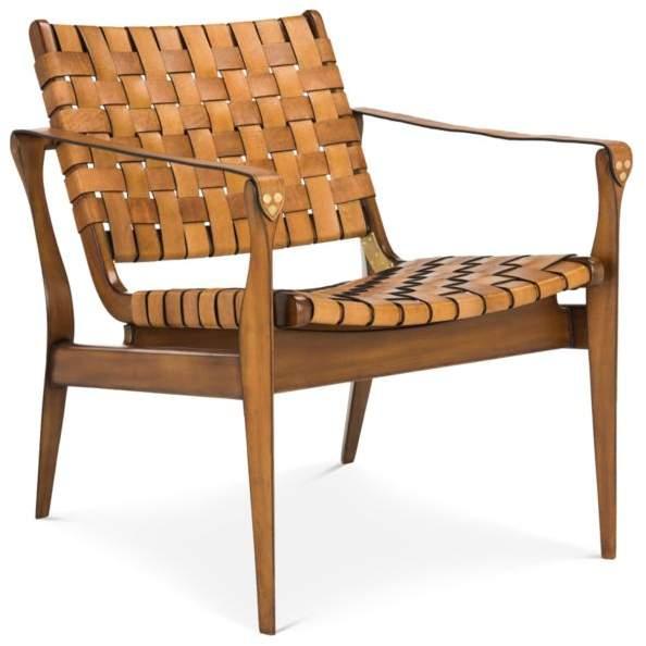 couture dilan leather safari chair rh shopstyle com