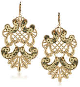 A.B.S. By Allen Schwartz Somewhere To Be Sequined Goldtone Drop Earrings