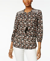 Style&Co. Style & Co Petite Floral-Print Peasant Top, Only at Macy's