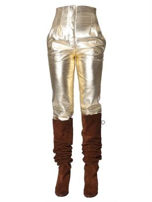 Alberta Ferretti Metallic Pants