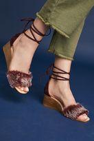 Jeffrey Campbell Fur Stack Wedge Sandals