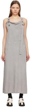 Y's Ys Grey Kersey U Jumpsuit Dress