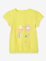 Vertbaudet Girl's Short-Sleeved 'Magic' T-Shirt