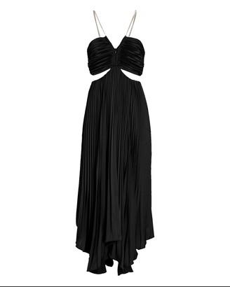 Aiifos Evie Pleated Cut-Out Midi Dress