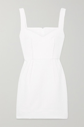 Emilia Wickstead Judita Cloque Mini Dress - White