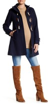 Kimi + Kai Paisley Wool Blend Duffle Toggle Coat (Maternity)