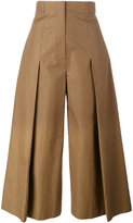 Fendi pleated wide-leg trousers - women - Cotton - 40