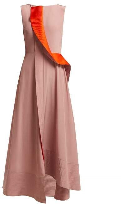 Roksanda Efilia Silk Crepe De Chine Midi Dress - Womens - Pink Multi