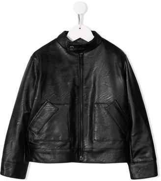 Paolo Pecora Kids Faux-Leather Jacket