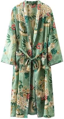 Goodnight Macaroon 'Rosanne' Floral Print Longline Kimono Jacket