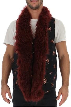 Ann Demeulemeester Floral Fur Trim Vest