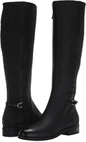 Cole Haan Isabell Stretch Boot (Black Leather/Tonal Stretch Quilt/Black Raw Stack) Women's Shoes