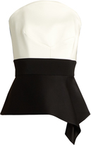 Roland Mouret Penn satin and cady corset top