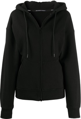 T By Alexander Wang Zip-Up Fleece Hoodie
