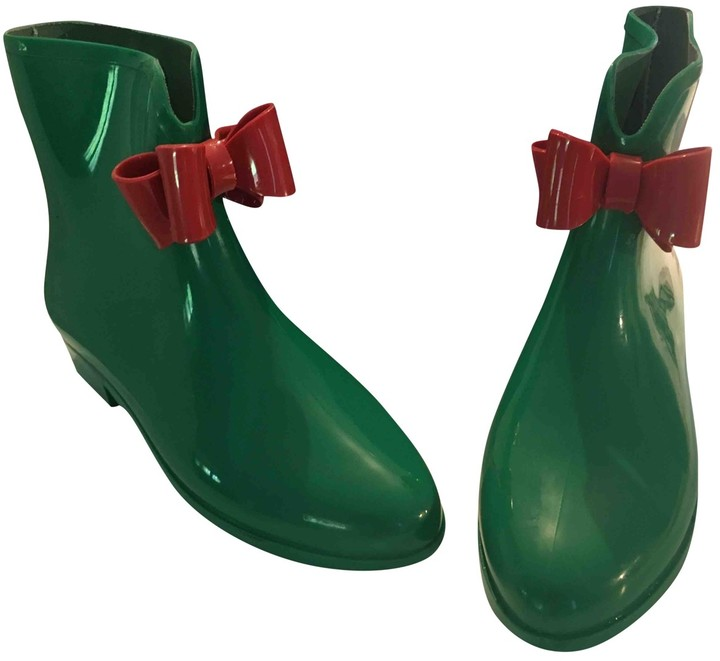Vivienne Westwood Green Rubber Ankle