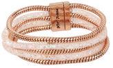 Betsey Johnson Confetti Rose Goldtone Multi-Row Mesh Bracelet