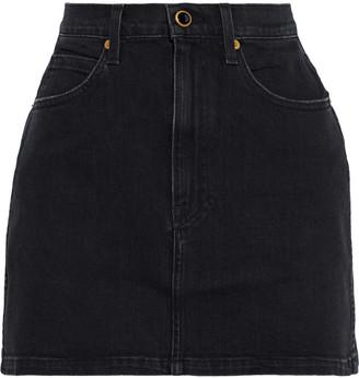 KHAITE Dolly Denim Mini Skirt