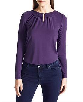 David Lawrence Sheared Neck Top
