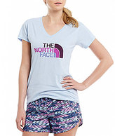 The North Face Short Sleeve Half Dome V-Neck Tri-Blend Tee