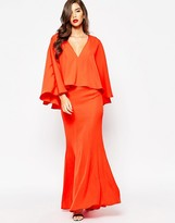 Jarlo Makena Plunge Front Maxi Dress With Exaggerated Frill