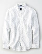American Eagle Outfitters AE Diamond Dot Oxford Shirt