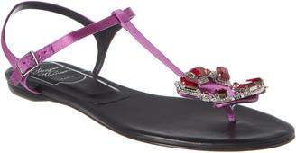 Roger Vivier Crown Jewel Leather Sandal