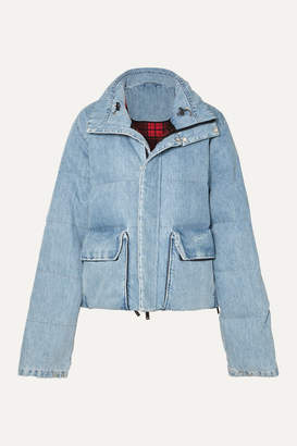 Unravel Project Quilted Denim Coat - Blue