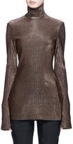 Ellery 'Gospel' stripe lamé turtleneck sweater
