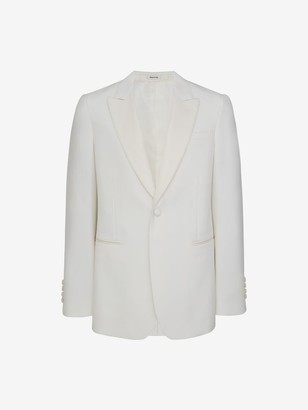Alexander McQueen Wool Silk Tuxedo Jacket