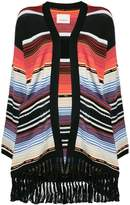 Laneus striped oversized cardigan