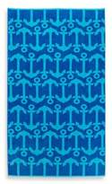 Repeat Anchor Beach Towel in Blue