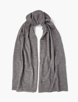 Comme Des Garcons Shirt Grey Wool-blend Scarf