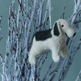 Graham and Green Ivory & Grey Dog Felt Decoration