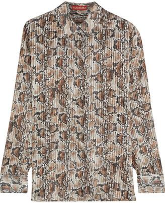 Altuzarra Chica Metallic Snake-print Silk-blend Shirt