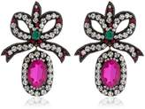 Gucci Bow Crystal Earrings