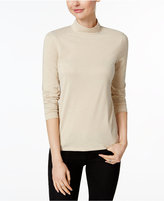 Charter Club Metallic Mock-Neck Top, Only at Macys