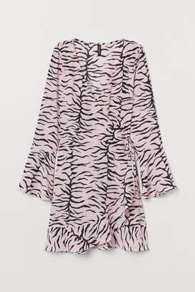 H&M Creped Wrap-front Dress
