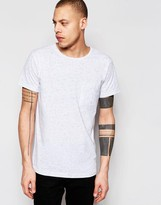 Weekday Don Multi Slub T-Shirt in White