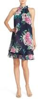 Eliza J Women's Floral Print Chiffon Trapeze Dress