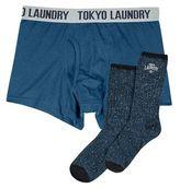 Burton Mens Tokyo Laundry Blue Socks and Trunks Set*