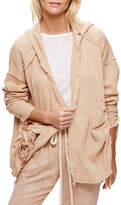 Free People Get Yer Gauze Hooded Cardigan