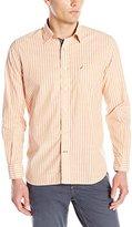 Nautica Men's Island Striped Poplin Shirt