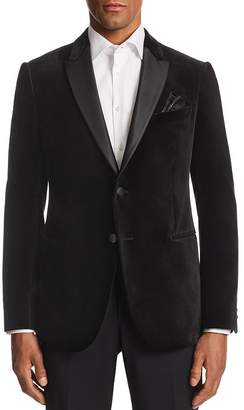 Giorgio Armani M-Line Contrast-Collar Velvet Tailored Fit Jacket