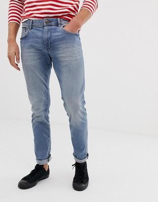 Esprit slim fit jeans in mid blue wash