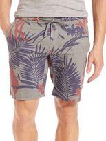 Eleventy Flower-Print Bermuda Shorts